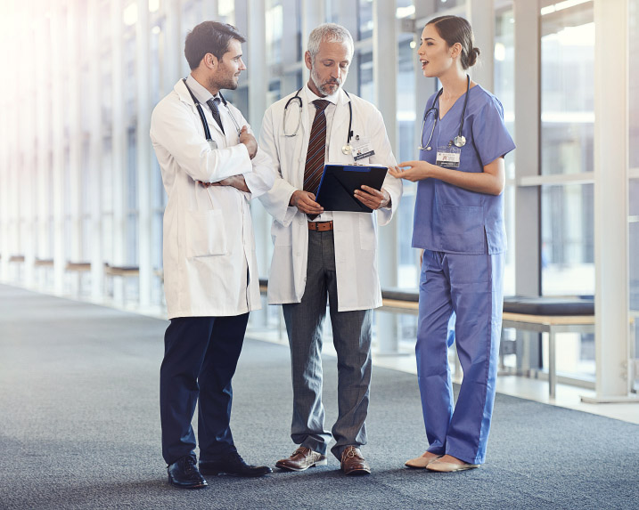 Doctors in conversation
